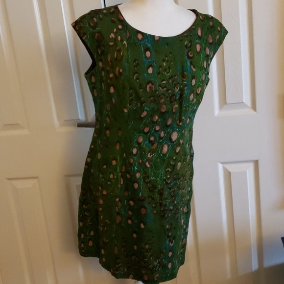 Signature by Robbie Bee Dresses & Skirts - Signature by Robbie Bee green print sheath dress12